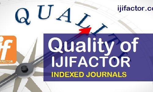 Quality of IJIFACTOR Indexed journals